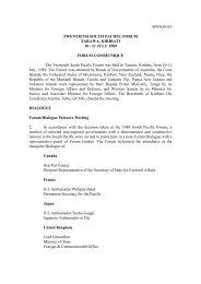 SPFS(89)19 TWENTIETH SOUTH PACIFIC FORUM TARAWA, KIRIBATI 10 - 11 ...