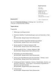Niederschrift über die 5. Gemeinderatssitzung am Montag ... - Villach