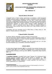 Jelentés a Heves Megyei Büntetés-végrehajtási Intézetben (Eger)