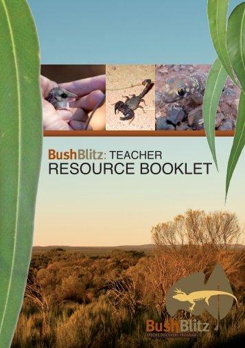 Teacher Resource booklet 2010 - BushBlitz