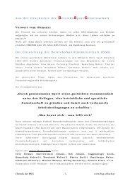 Chronik über 25 Jahre BSG - BetriebsSportGemeinschaft Villach
