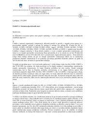 Ljubljana, 19.8.2009 ZADEVA: Sistemizacija delovnih mest ...