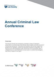 Annual Criminal Law Conference - Queensland Law Society