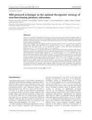 MRI protocol technique in the optimal therapeutic strategy of non ...