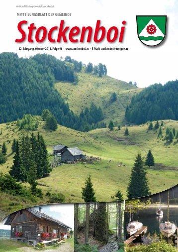 Ausgabe vom Oktober 2011 - in Stockenboi!