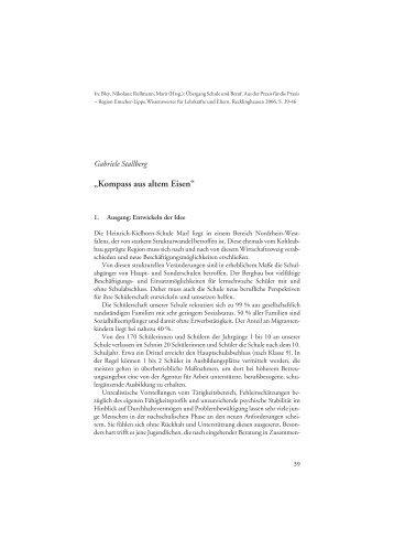 Kompass aus altem Eisen - Arbeiten + Lernen an Lippe + Emscher