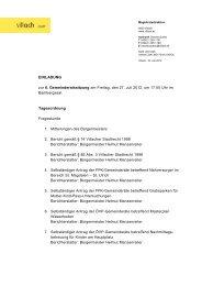 EINLADUNG zur 6. Gemeinderatssitzung am Freitag, den ... - Villach