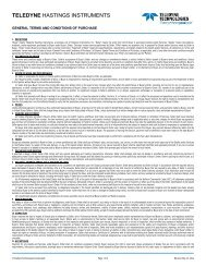 Purchase Order General Terms and Conditions - Teledyne Hastings ...