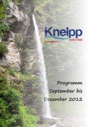 Programm September bis Dezember 2012 - Kneippbund