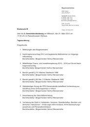 Niederschrift über die 2. Gemeinderatssitzung am Mittwoch ... - Villach