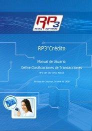Clasificación de Transacciones - RP3 Retail Software