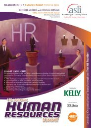 The HR Frontier - Asian Strategy & Leadership Institute