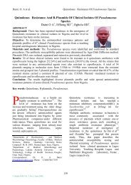 Quinolones Resistance And R-Plasmids Of Clinical ... - Sudan JMS