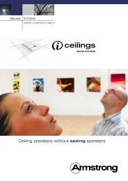 i-ceilings Product Guide - I-Ceilings Sound Systems. - Uk.com