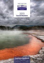 Candidate Handbook Council Elections - Rotorua District Council