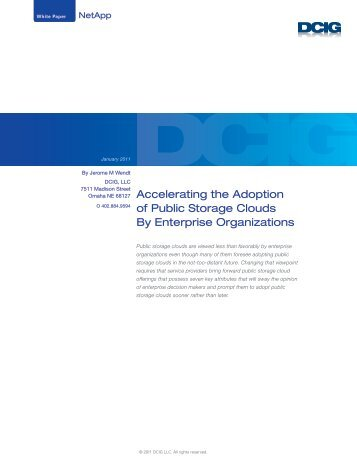 Accelerating The Adoption Of Public Storage Clouds By - F5 Networks