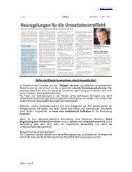 Umsatzsteuerpflicht bei Zahnärzten - Siart und Team Treuhand GmbH