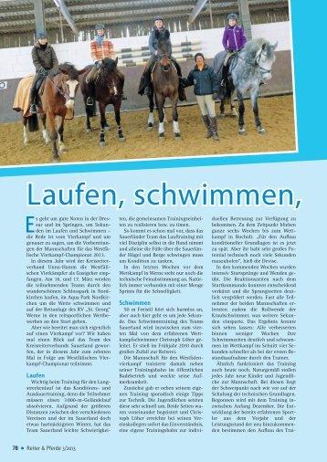 Laufen, schwimmen, reiten - Reiter und Pferde in Westfalen