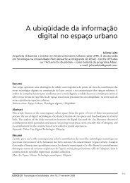 A ubiqüidade da informação digital no espaço urbano - Logos