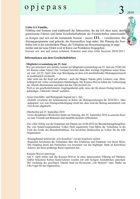 o p j e p a s s - Große Allgemeine K.G. von 1900 e.V.