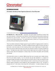 Chromalox Introduces New Paperless Electronic Chart Recorder
