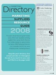 MARKETING SUPPLIERS RESOURCE GUIDE - Tactics Magazine