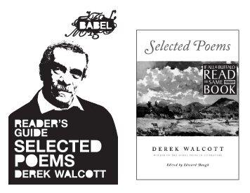 Derek Walcott - Just Buffalo Literary Center