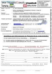 Anmeldung zum Fahrprogramm im Thomatal (A) am 12 ... - Pistenclub