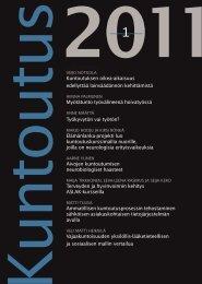 Kuntoutus-lehti 1/2011 - Kuntoutussäätiö