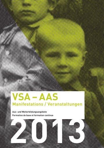 VSA-AAS Manifestations Veranstaltungen 2013