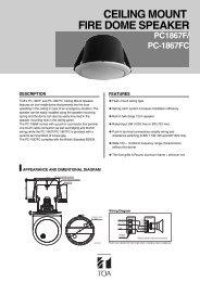 TOA PC-1867FC Catalogue