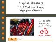 Capital Bikeshare 2013 Member Survey Summary ... - Mobility Lab