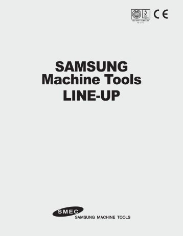 SAMSUNG LINE-UP Machine Tools