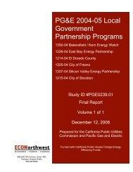PG&E 2004-05 Local Government Partnership Programs
