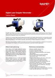Laser Doppler Vibrometer vibration measuring instrument Model Basis