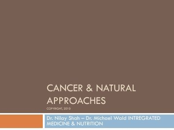 Cancer & Natural Approaches - Breast Cancer Options