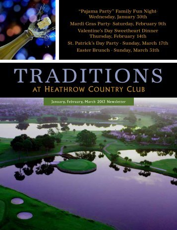 January/February/March 2013 - Heathrow Country Club