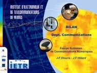 Bilan Équipe Systèmes de Communications Numériques (SCN) - IETR