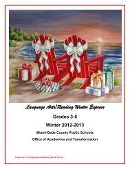 Grades 3-5 - Division of Language Arts/Reading - Miami-Dade ...