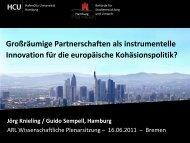 Prof. Dr.-Ing. Jörg Knieling / Dipl.-Geogr. Guido Sempell - ARL