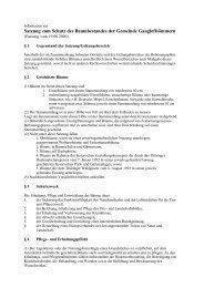 Satzung zum Schutz des Baumbestandens