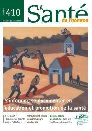 La santé de l'homme n°410 Novembre-Décembre 2010 - Inpes