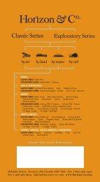 2005 Exploratory Series Brochure - Horizon & Co.