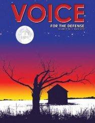 for the defense for the defense - Voice For The Defense Online