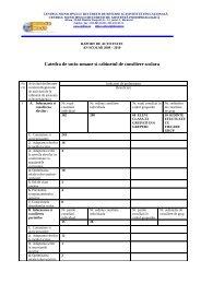 Raport de activitate socio-umane.pdf - Colegiul Național Bilingv ...