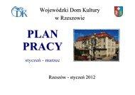 PLAN PRACY NA I KWARTAŁ 2012 - Wojewódzki Dom Kultury w ...