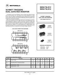 SCHMITT TRIGGERS DUAL GATE/HEX INVERTER SN54/74LS13 ...