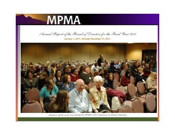 2011 Annual Report - The Mountain-Plains Museums Association