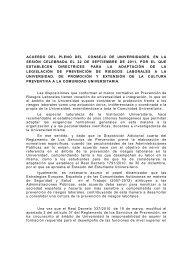 PROPUESTA DE ACUERDO DEL CONSEJO DE UNIVERSIDADES ...