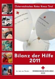 Bilanz der Hilfe 2011 - Rotes Kreuz